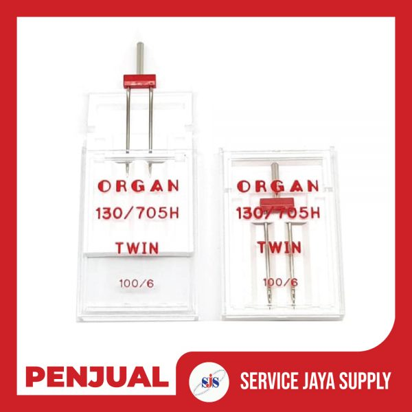 ORGAN-Needle-Jarum-Kembar---Double-Needle-6.0-mm-Mesin-Jahit-Portable